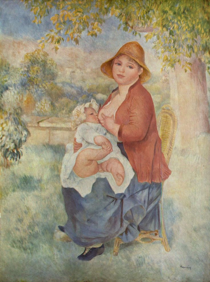 "Maternidad (""Maternité""). Pierre-Auguste Renoir. 1885. Localización: Musée d'Orsay (Paris). https://painthealth.wordpress.com/2016/04/29/maternidad-3/"