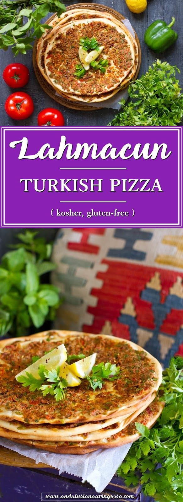 Lahmacun is Turkish pizza and transports taste buds instantly to Istanbul. Ahhhh!  * * *    Turkish food food blog travel blog food photography kosher gluten-free meze