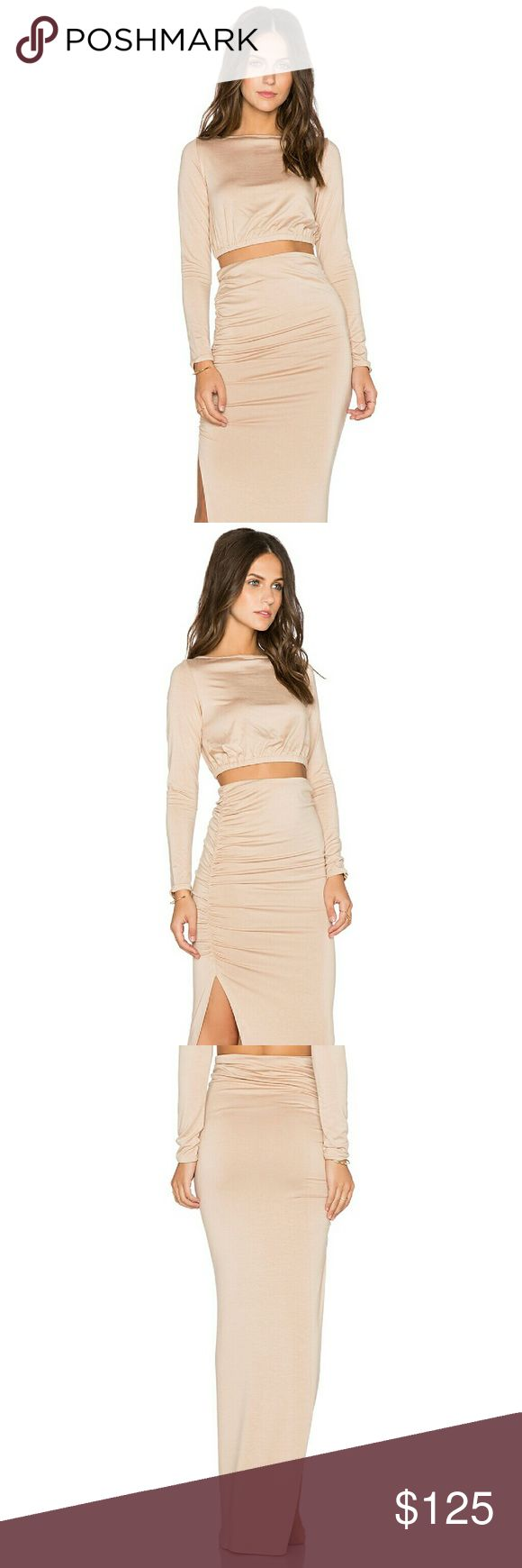 Revolve × Rachel Pally crop top ruched skirt Sz S New $246 Revolve × Rachel Pally crop top ruched skirt set on Bamboo SZ S Rachel Pally Other