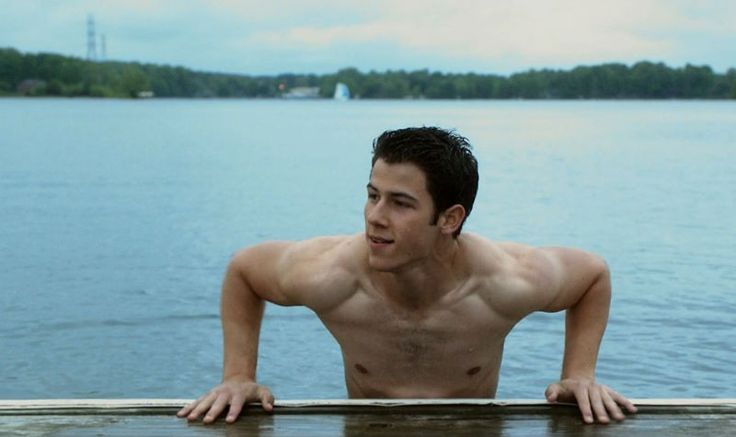 "Nick Jonas Shirtless In ""Careful What You Wish For"""