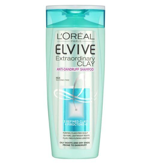 LOreal Paris Elvive Extraordinary Clay Anti-Dandruff Shampoo 250ml - Boots