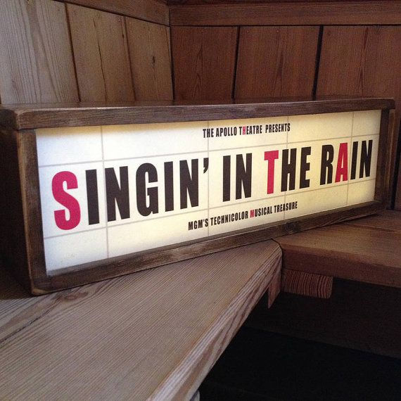 Retro Vintage Cinema Sign by DaughtersORevolution on Etsy