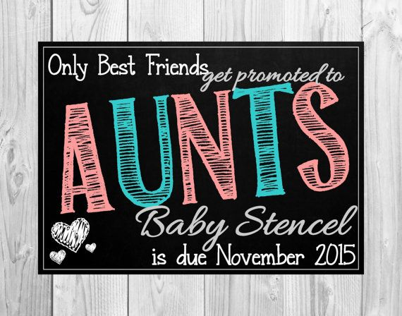 Pregnancy Announcement Cards for Your Best Friend by MMasonDesigns
