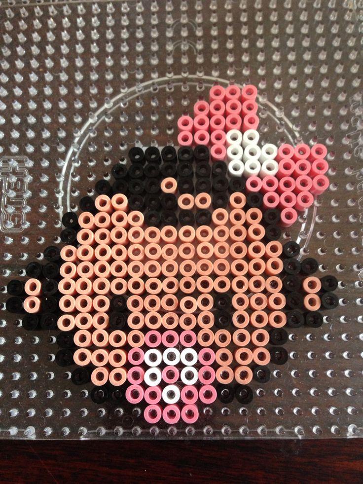 Baby girl hama perler beads by Dorte Marker