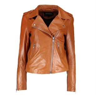 Mbym Vibes venice leather jacket, Brown Light, medium