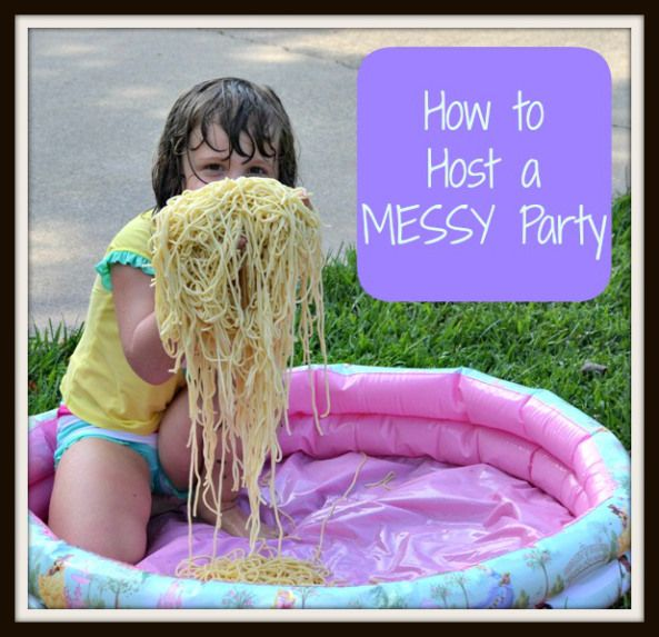 How to Host a Messy Party SPRING and SUMMER fun!!  www.futureflyingsaucers.com