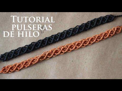 pulseras de hilo faciles y rapidas finas | tutorial macrame - YouTube