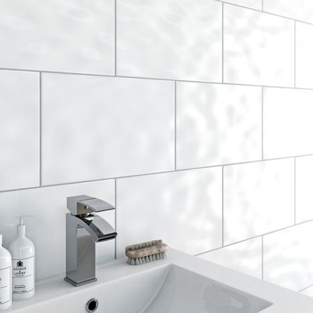 Clarity Bumpy White Gloss Tile 250mm X 400mm. Bathroom Wall ... Part 57