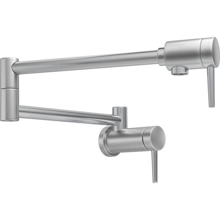 Delta Contemporary Arctic Stainless Wall-mount Pot Filler Faucet