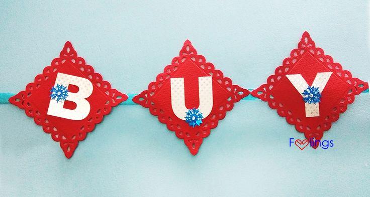 Rinea foil banner, cricut, diy