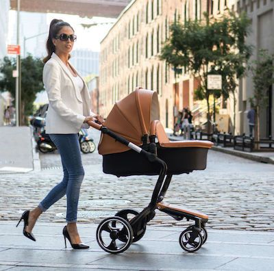 Ella Baby Elite Infant To Toddler Pram Stroller Brown Leather Ette Perfect Gift For Any Shower