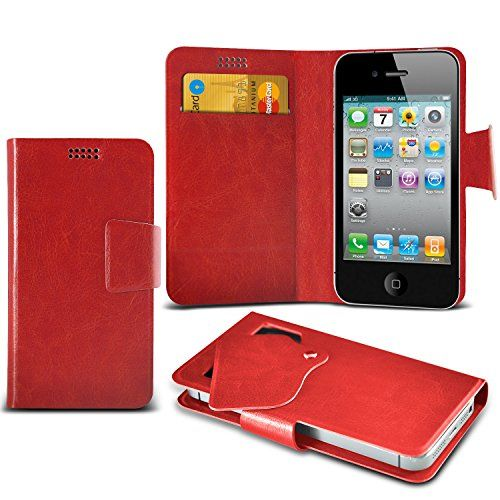 From 4.99 (red) Apple Iphone 4 Super Thin Faux Leather Suction Pad Wallet Case Cover Skin With Credit/debit Card Slots By Spyrox