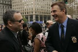 Chris Noth and Vincent D'Onofrio Law And Order:CI ; omg two of my dream men in one shot.