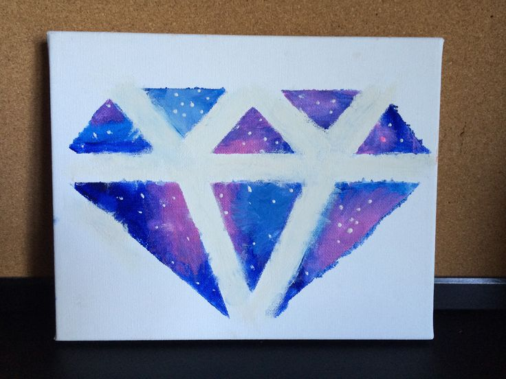 To make this galaxy diamond you lay down scotch tape on a ...