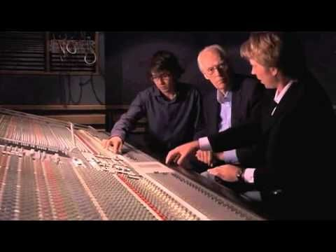 """In a clip from 'Living in the Material World,' George Harrison's son Dhani, along with George Martin and his son Giles, unearth a guitar solo that was recorded for """"Here Comes the Sun"""" but was ultimately discarded."""