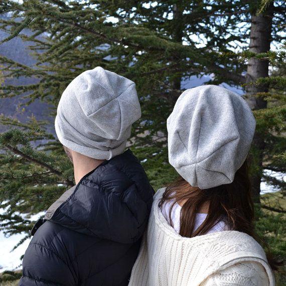 Soft grey beanie hat di ClanWeAreClothing su Etsy