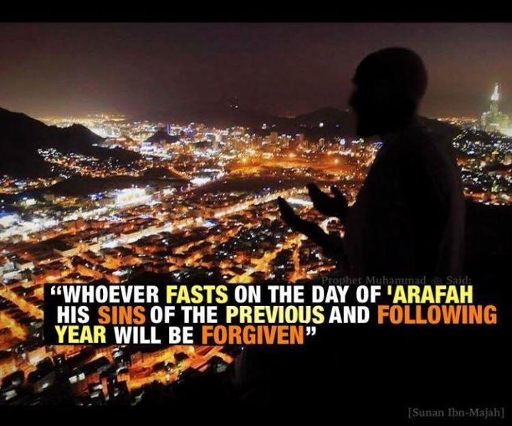 Don't forget to fast the day of Arafah! ( 9th of Dhul Hijjah/day before Eid) #Tomorrow #Day_of_Arafah - http://on.fb.me/1FcEBVz -
