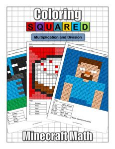 Minecraft Multiplication and Division Coloring Squared would like you to enjoy these free Minecraft multiplication and division coloring pages for you to download.