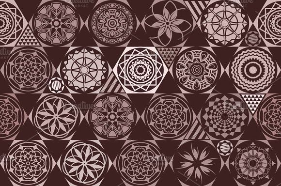vector seamless patterns. tile by Rommeo79 on @creativemarket