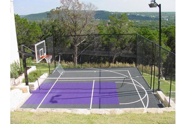12 best images about sports court on pinterest Backyard sport court