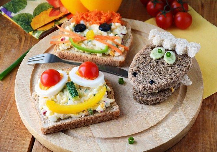 recette sandwich pour le goûter d'anniversaire - tartines ornés de fruits et…