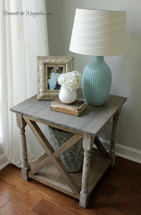 Beneath the Magnolias: Ana White Rustic X End Table