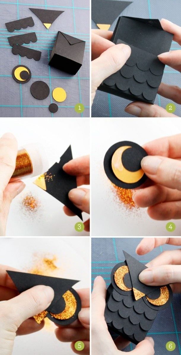 Uil maken van papier, stap-voor-stap uitleg