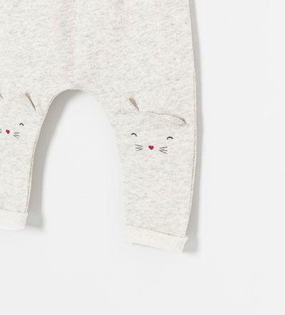 kitten. baby. kids. knit. pants. cute. sweet. grey. fun. clothes.