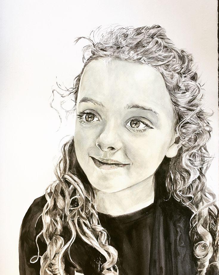 Karin Dando #watercolour on paper # portrait of Britta 2017