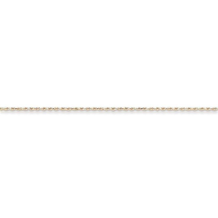 14k Gold Rose Gold 1.5mm D/C Rope Chain 9 Inches ** Click image to review more details. (This is an Amazon Affiliate link and I receive a commission for the sales)