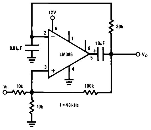 simple audio circuit using lm386