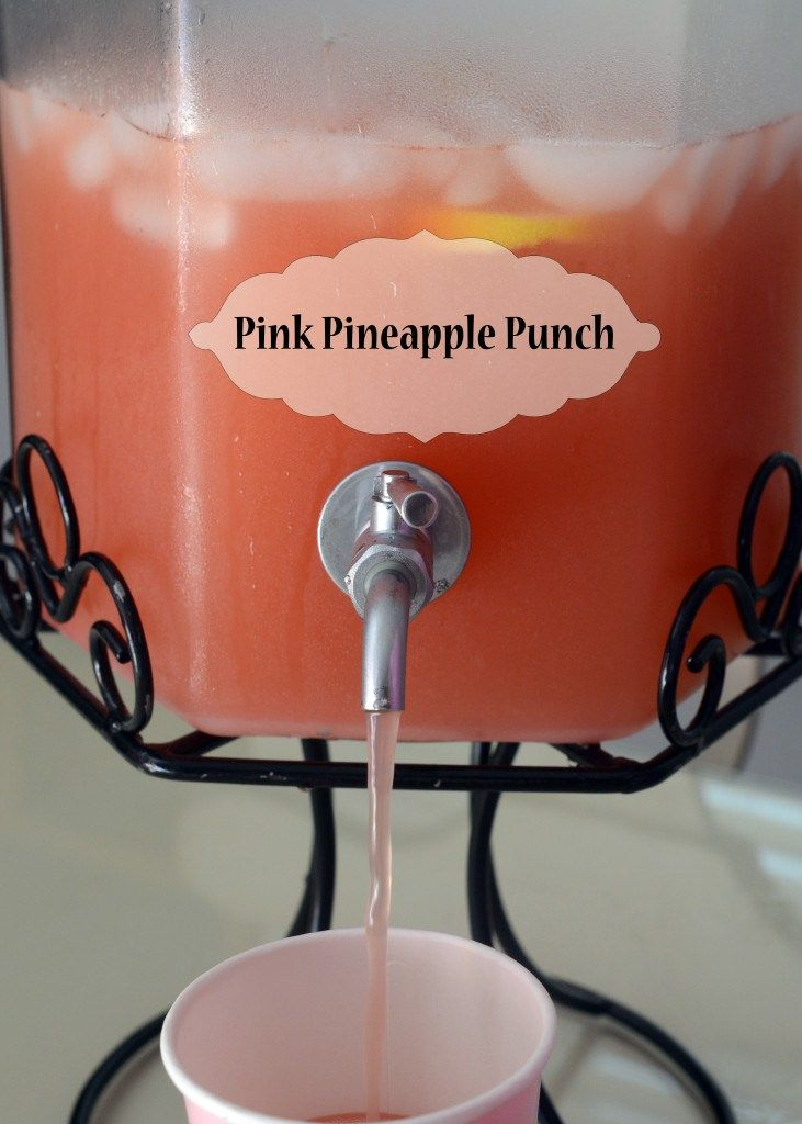 Pink Pineapple Punch {Use club soda instead of ginger ale to cut back on the sugar}