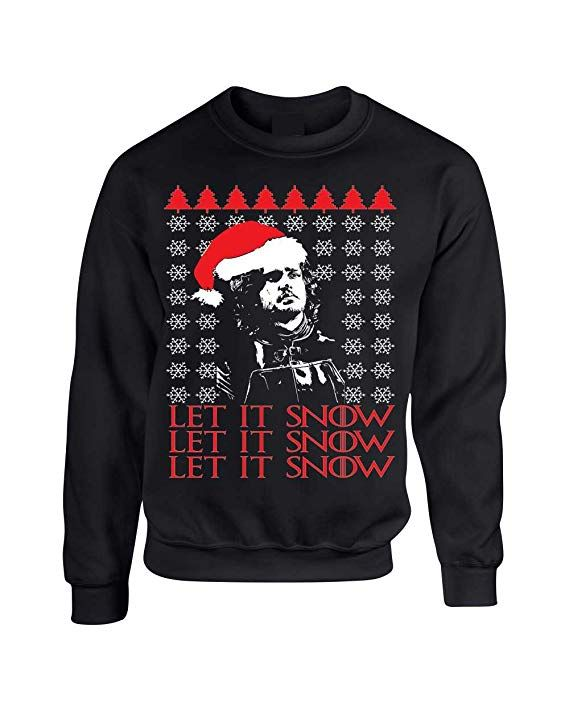 Let It Snow Jon Snow Stark GoT Ugly Christmas Sweater Unisex Crewneck Sweatshirt