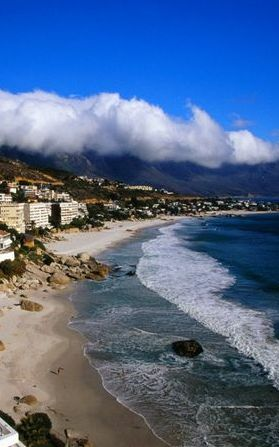 Clifton ~ Cape Town, South Africa.  Clifton is an affluent suburb of Cape Town, South Africa. It is an exclusive residential area and is home to some of the most expensive real estate in South Africa, with dwellings nestled on cliffs that have sweeping views of the Atlantic Ocean.
