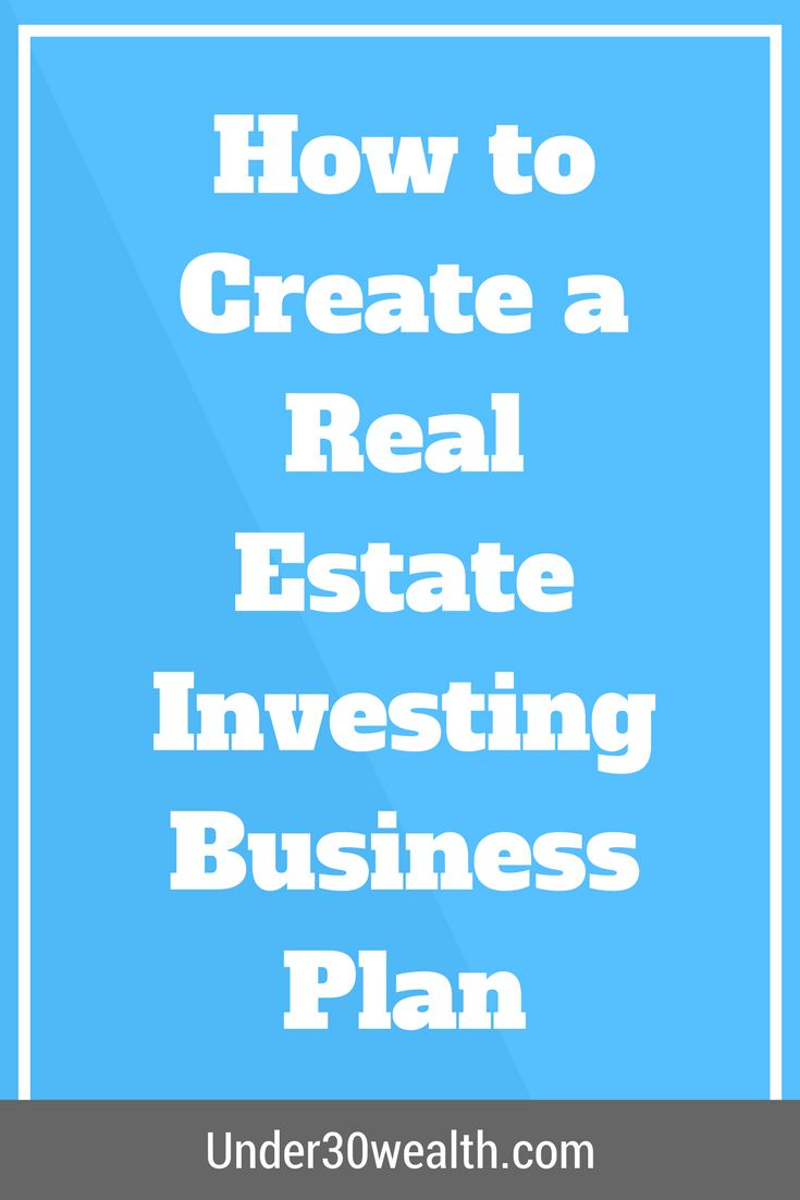 how to create a business plan for investors
