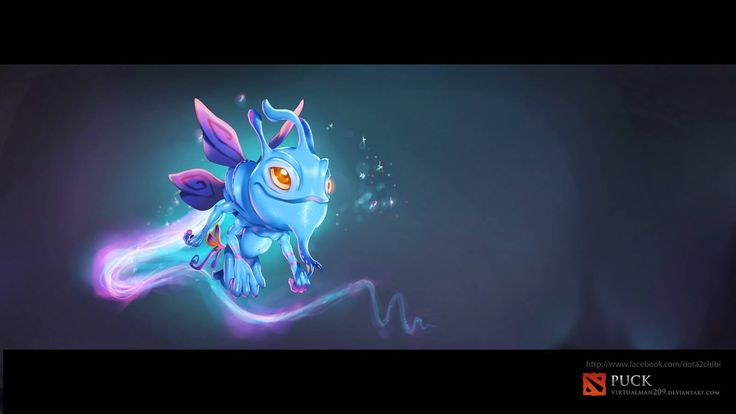 puck chibi wallpaper dota 2