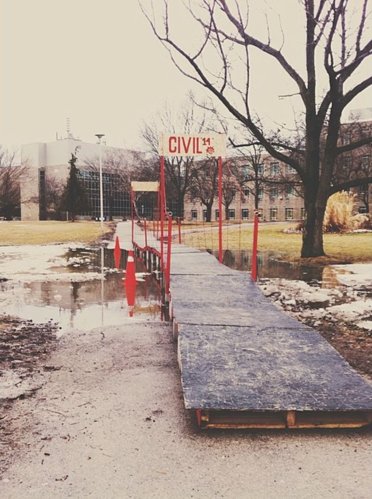 After some flooding at McMaster university the civil engineers had had enough