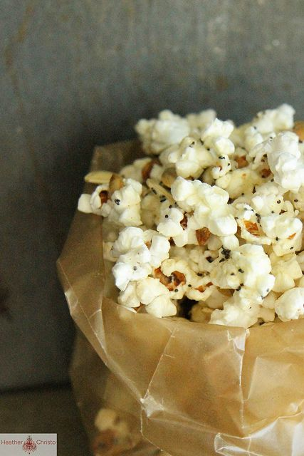 Spicy Cheddar Popcorn Mix by Heather Christo