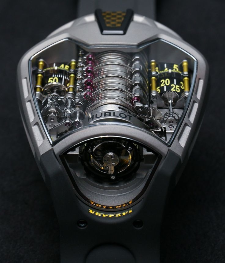 The first thing that strikes you when you see the MP-05 La Ferrari is, how completely different this watch is from any Hublot you've ever seen. Designed to resemble the engine compartment of … - mens watches sale online, mens chronograph watches, all black watches for men *ad