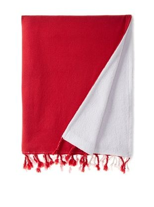 45% OFF Nine Space Dip Dye Fouta Terry Towel, Red