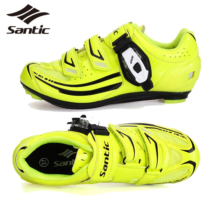 Santic Women Cycling Shoes Yellow Breathable Road Bike Shoes Bicycle Sports Shoes Cycling Equipment Zapatillas Ciclismo Mujer