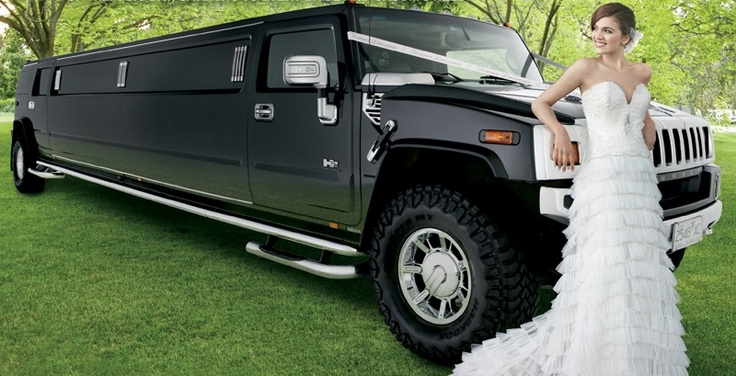 Hummer Limousine from Hummer Limousines  With ample room for the bride, her dress, her bridesmaids, and plenty of champagne, a hummer limousine is the ideal choice for the bride who wants to whoop it up – |and turn heads. Best for: pure impact!