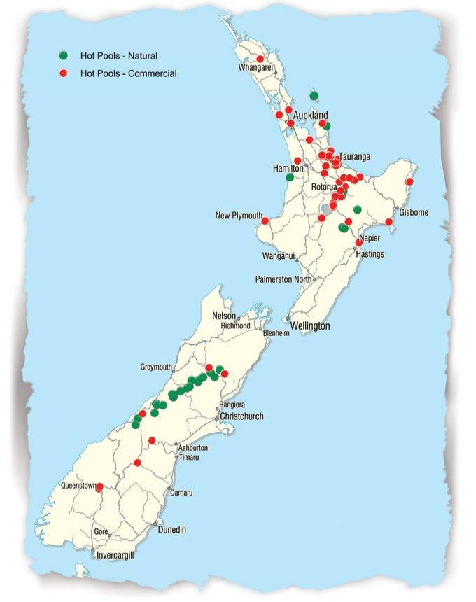 Hot Spots - NZ Hot Pools Treasure Map