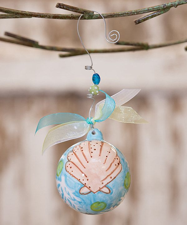 Look at this #zulilyfind! Beach Shell Personalized Ball Ornament by Glory Haus #zulilyfinds