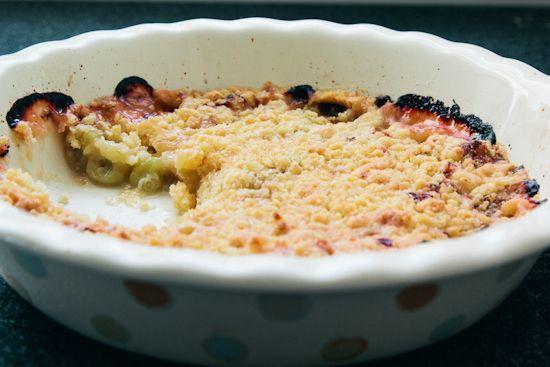 gooseberry crumble | london bakes | Yummy . . . | Pinterest