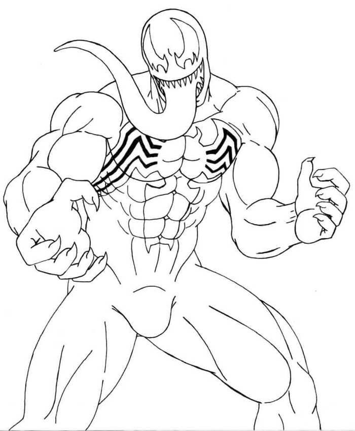 Venom Coloring Pages Printable Coloring Pages Free Coloring