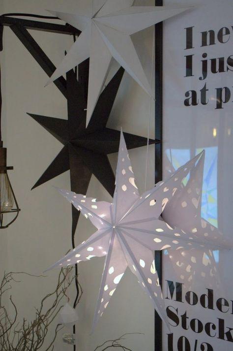 weihnachtssterne basteln skandinavisch-durch-loecher-leuchtend
