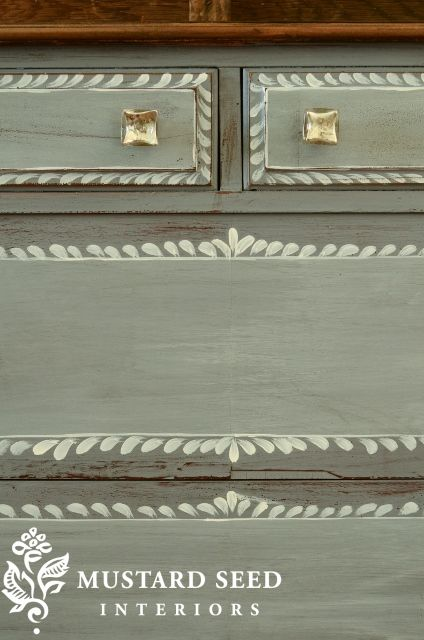 Adding Details to Drawer Fronts With Paint - Miss Mustard Seed