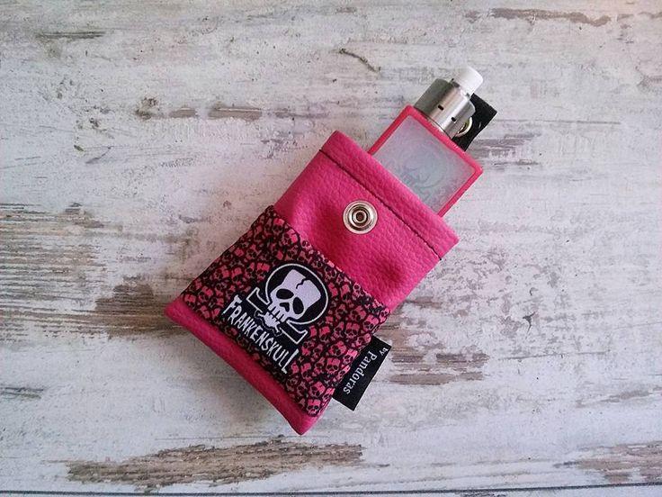 Pandoras pink belt pouch FrankenSkull logo