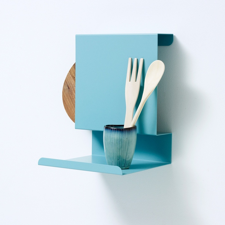 Ledge:able Shelf by Linde - minimalist Danish design; love!  Would be perfect for solo life in a studio apartment or cabin.